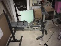 Weight bench and extras