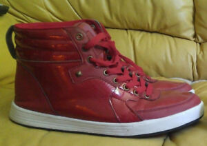 Red Hightop shoes size 9