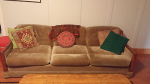 Beige 3 seater couch for sell