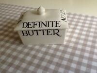EMMA BRIDGEWATER BLACK TOAST SMALL BUTTER DISH. NEW