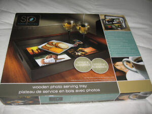 Brown Photo Serving Tray
