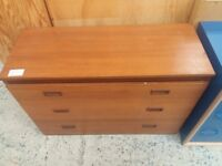 Wooden chest of drawers (from Cambridge Re-use, a Charity Organisation)