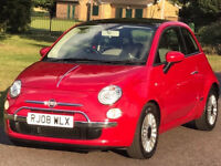 Automatic -- Fiat 500 -- 1.4 AUTO 16v Lounge -- Low 58000 Miles -- Pan GLASS ROOF --Part Exchange OK