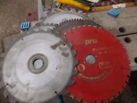 Saw blades 5 off mixture of teeth size £40 the lot for wood cutting