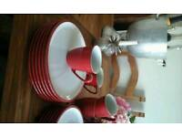 Red Denby Dinner Service, New & Unused