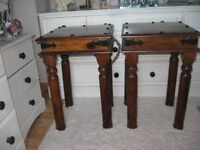 Lovely Indian Hardwood side/lamp tables