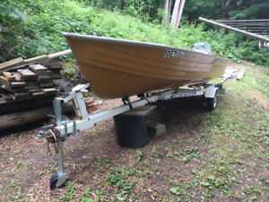 Crestliner Boat and Trailer for Sale - As Is