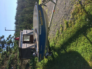 Boat and motor and trailer