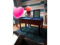 Games table. Gaming table. 4 in 1. Pool. Table tennis air hockey