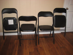 2 folding black chairs for $15