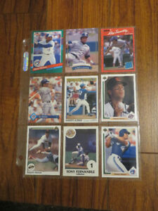 9 old baseball cards TORONTO BLUE JAYS