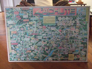 "Mounted Promotional ""Map"" of Lachute, Quebec"