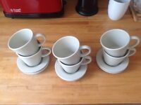 Set of 6 IKEA Dinera Coffe cups plus saucers