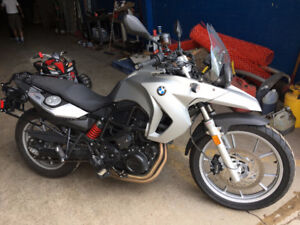 BMW F-650 GS motorcycle