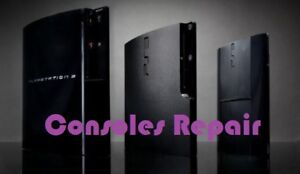 Console repair PS3-4, PSP, Wii, Xbox etc. with 3 months warranty