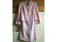 """MINUET SILK/LINEN SUIT SIZE 14 FULLY LINED NEW WITH TAGS SKIRT LENGTH 34.5"""" 88cm"""