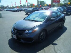 2015 HONDA CIVIC EX- SUNROOF, REAR VIEW CAMERA, BLUETOOTH, SATEL
