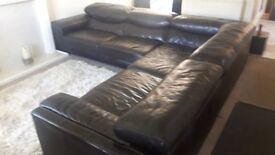 Large 5 seat corner suite real quality leather, ery comfortable and in perfect condition cost 5700