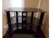 TV Stand Black Glass