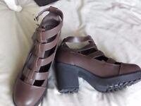 Ladies Brown Platform Wedge Shoes Size 5 BNWOB £5