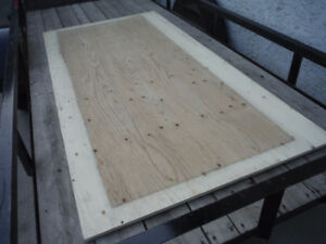 NEW - 4 x8  X 3/4 IN. THICH - GOOD ONE SIDE PLYWOOD