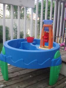 """Table d'activites avec d'eau /Water wheel play table """"Step 2"""""""