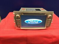 Ford Factory Fit Model Car Sat Naw/Car CD/ Dvd/ Player SD Aux/ Usb BT Full Hd Screen 10.80p