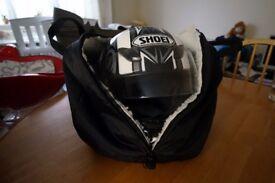 Shoei Full-face Motorcycle Helmet - XL White/Black