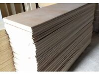 12 Pieces of NEW 9mm B/BB Grade Birch Plywood 8ft x 12½in (2440mm x 320mm)