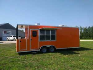 BRAND NEW 8.5X24 BBQ DECK TRAILER FOR SALE - READY TO GO