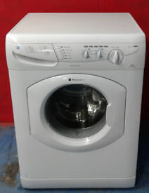 S687 white hotpoint 6kg 1400spin washing machine comes with warranty can be delivered or collected