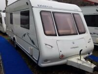 2006 Compass Omega 540 4 Berth Fixed TRANSVERSE Bed Caravan