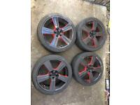 "18"" 5x100 alloy wheels"