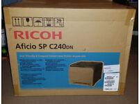 (Brand New) Ricoh Aficio SPC-240DN A4 - Colour Laser Printer - New & Sealed in box