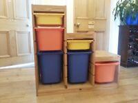 IKEA Trofast child toy storage draws unit in pine