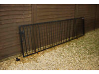 Heavy Duty Steel Gate with mounting kit ~ Ideal for 3 meter opening ~ powder coated ~ never used..