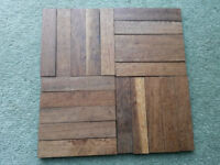 Reclaimed Hardwood Parquet Flooring. Up to 43m2 of lovely solid wood floor available by the metre
