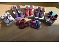 Collection of Kids Clarks shoes - Leather uppers - 7 in total.