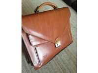Texier leather briefcase