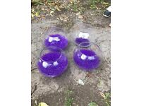 Glass Fish Bowl Vases