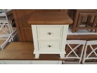 NEW Ex Display Julian Bowen Portland 2 Drawer Bedside Table **Can Deliver**
