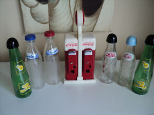 saliere et poivriere coca cola pepsi cola snow white up town