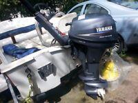 Yamaha 8hp longshaft Fourstroke outboard with tank