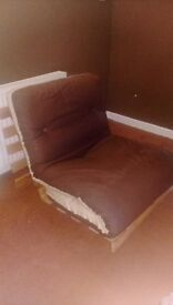 CURRENTLY SOLD - Single wooden frame futon and mattress £35ono