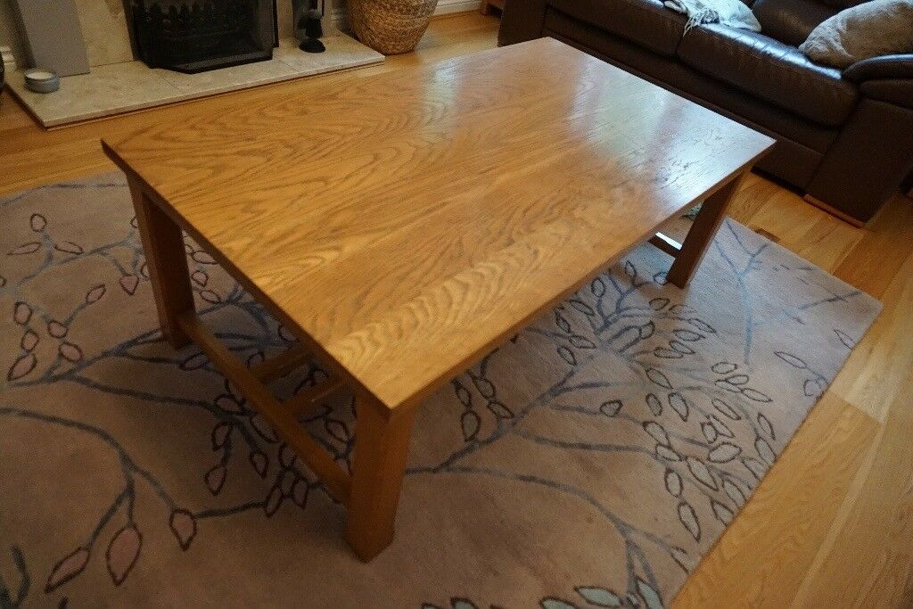 solid oak coffee table - laura ashley | in chichester, west sussex