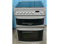 C001 Silver Cannon 60cm Double Electric Oven Gas Hob Duel Fuel Cooker, Comes With Warranty