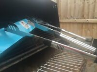 Charcoal Oil Drum BBQ with Warming Rack & 3 Sets of Brand New Barbeque Accessories Greenwich London