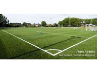 Play casual 8 a side football in Leyton. Games open to anyone.