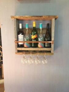Barn Board - Wine Rack - Reclaimed Wood - Copper pipe