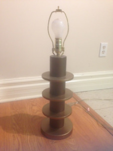 2 Bronze/Brown Table Lamps